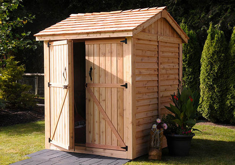 Maximizer 6x6  Cedar Storage Shed - World of Greenhouses - 1