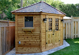 OLT 5 Sided Cedar Garden Shed/Pool House 9'x9'