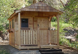 OLT  8×12 Cedar Garden Shed  with Porch and Functioning Windows