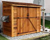 OLT 8'x4′ Double Door Cedar Shed
