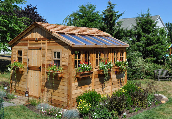 Olt Sunshed Garden Cedar Greenhouse Shed World Of