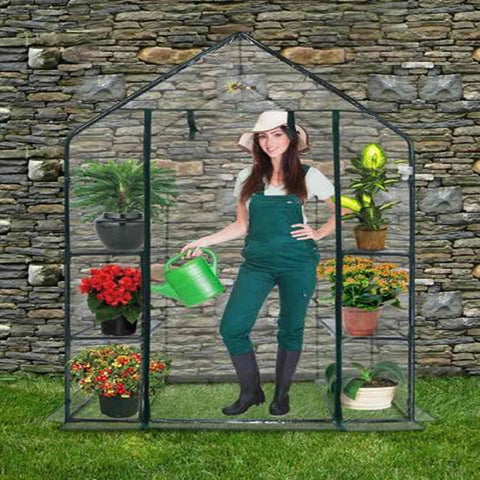 Ogrow Deluxe WALK-IN CLEAR GREENHOUSE - World of Greenhouses - 1