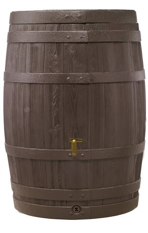 Graf Whiskey Barrel VINO style rain barrel with fast flow tap - World of Greenhouses - 1