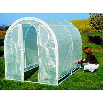 Weatherguard round top greenhouse By Jewett Cameron - World of Greenhouses - 1