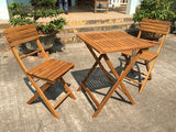 Acacia Wood Bistro Table and Chairs Set