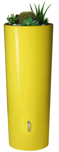 High Gloss Graf Elegance Rain Barrel with Planter - World of Greenhouses - 4