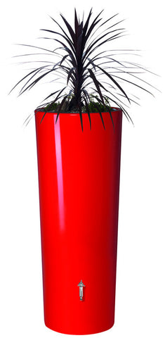 High Gloss Graf Elegance Rain Barrel with Planter - World of Greenhouses - 1