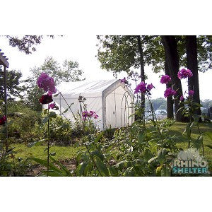 Heavy duty steel frame 12' Instant Rhino Greenhouse by MDM - World of Greenhouses - 1