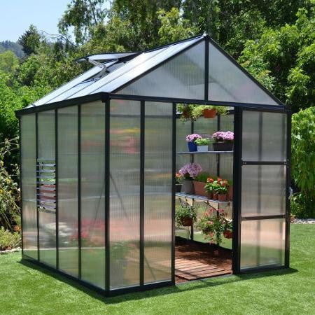 Glory Premium Hobby Grey Greenhouse 8 Feet Wide x 8-20  FeetLong - World of Greenhouses - 1