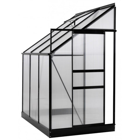 Ogrow Lean-To Greenhouse With Sliding Door And Roof Vent 6' X 4' X 7'