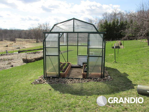 Grandio Elite 8 Foot x 8-24 Foot Greenhouse Kit - World of Greenhouses - 1