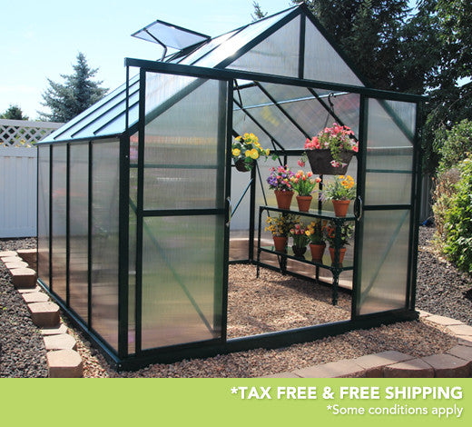 Grandio Ascent 8 Foot x 8-24 Foot Greenhouse Kit - World of Greenhouses - 1