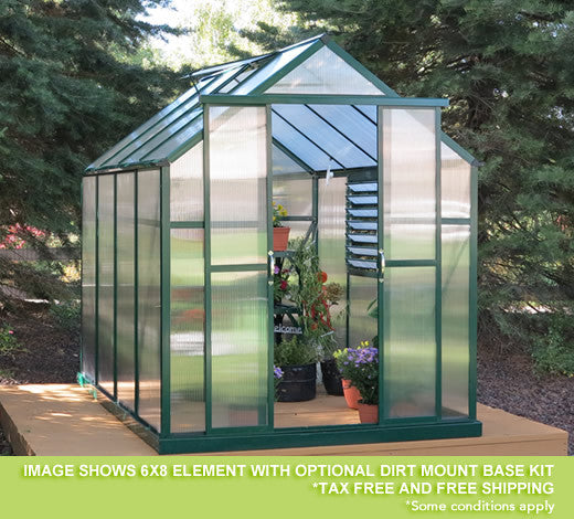 Grandio Element 6 Foot all year Greenhouse Kit - World of Greenhouses - 1