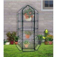 Ogrow Ultra-Deluxe 4 TIER HEXAGONAL FLOWER PLANTHOUSE - World of Greenhouses - 1