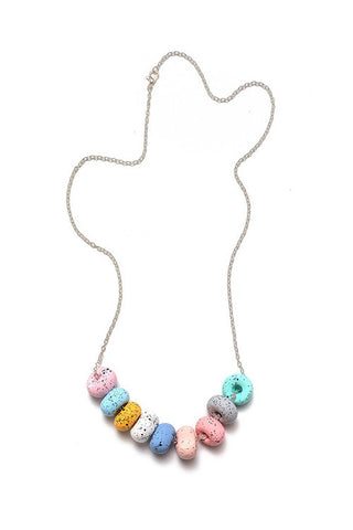 Emily Green -  Chalk  - Nine bead necklace