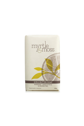 Myrtle & Moss - Mandarin, Lemon Myrtle & Orange Peel Shea Soap