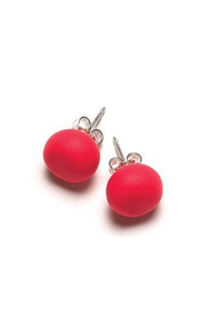 Emily Green Studs - Bright Red
