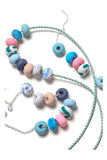 Emily Green -  Pine Dash - Nine bead necklace