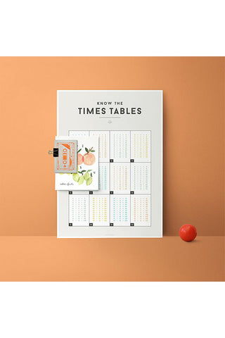 We Are Squared - Chart - Times Tables