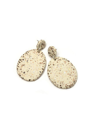 Emily Green Drop Earrings - Gossling Harvest of Gold Terrazzo