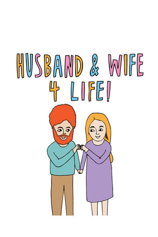 Able & Game card - Husband & Wife for life