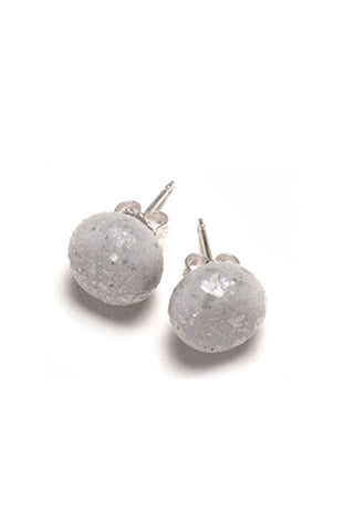 Emily Green Studs - Silver Sparkle