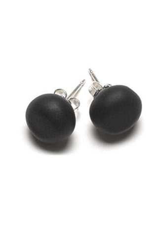 Emily Green Studs - Soft Black