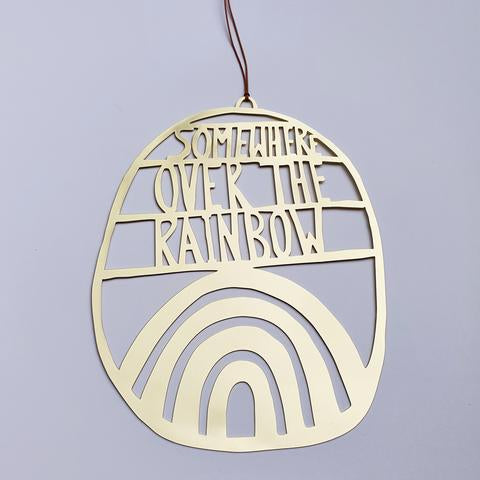 Denz - Somewhere over the rainbow wall hanging