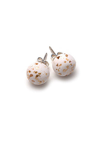 Emily Green Studs - White Gold