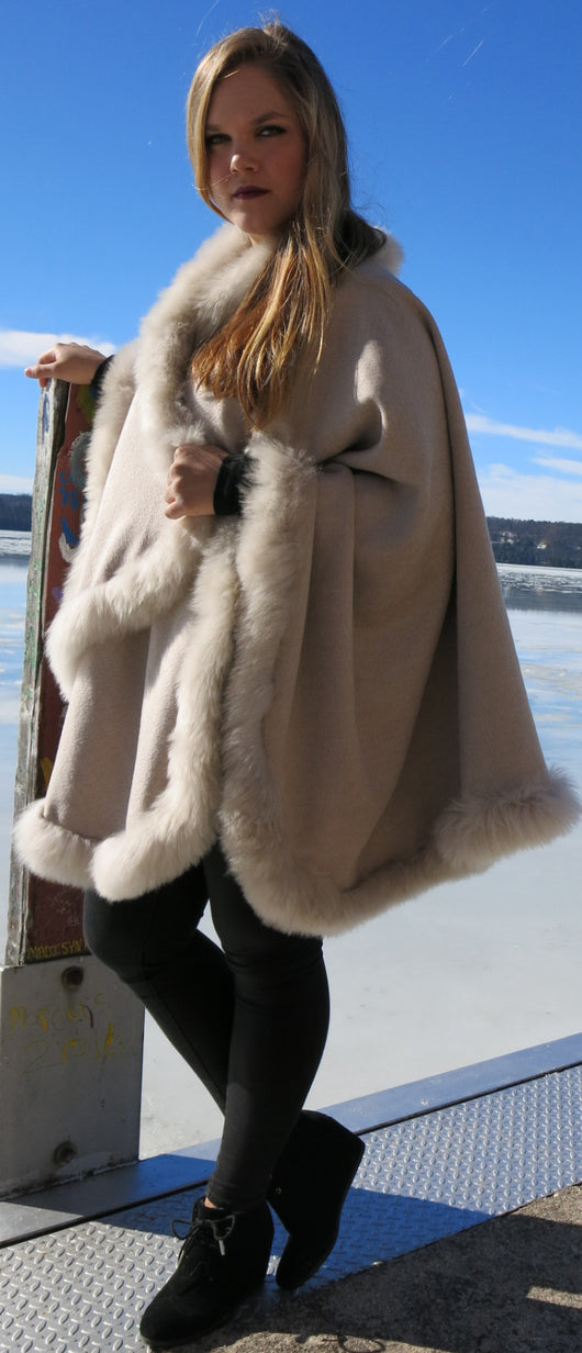 Exquisite Baby Alpaca Fur Cape
