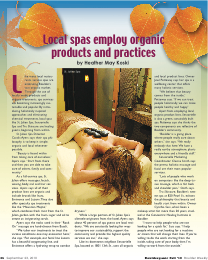 Local spas use natural and organic products - Boulderganics 09/23/2010