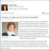A lesson in make-up at Tru Spa in Boulder - Examiner 10/18/2010