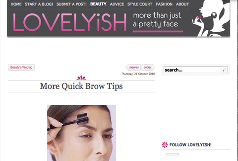 Quick Brow Tips - Lovelyish 10/21/2010