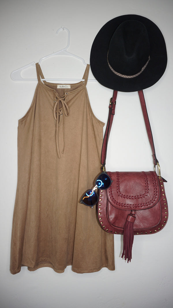 Anabelle Suede Dress