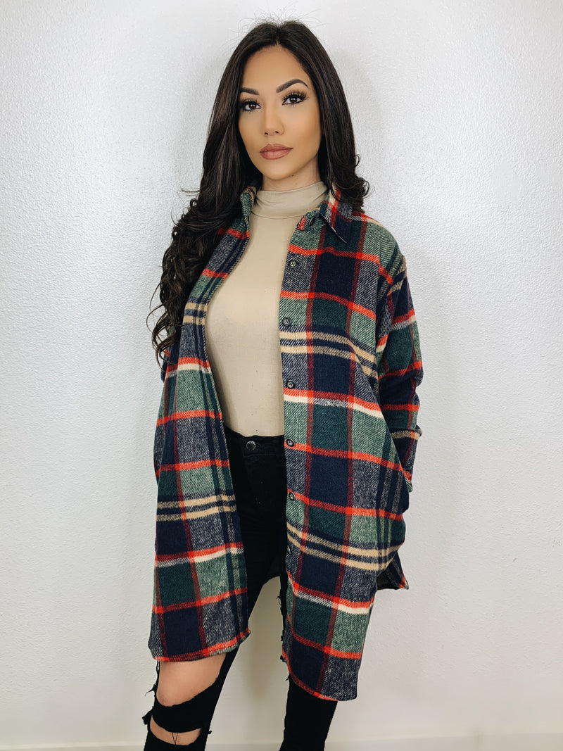 Grunge Flannel Jacket