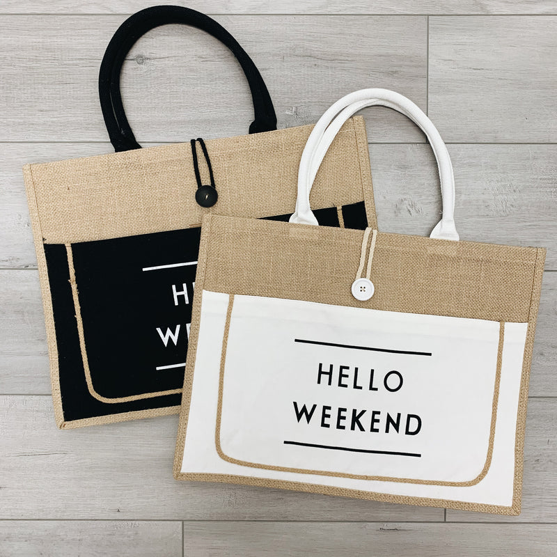 Hello Weekend Tote Bag