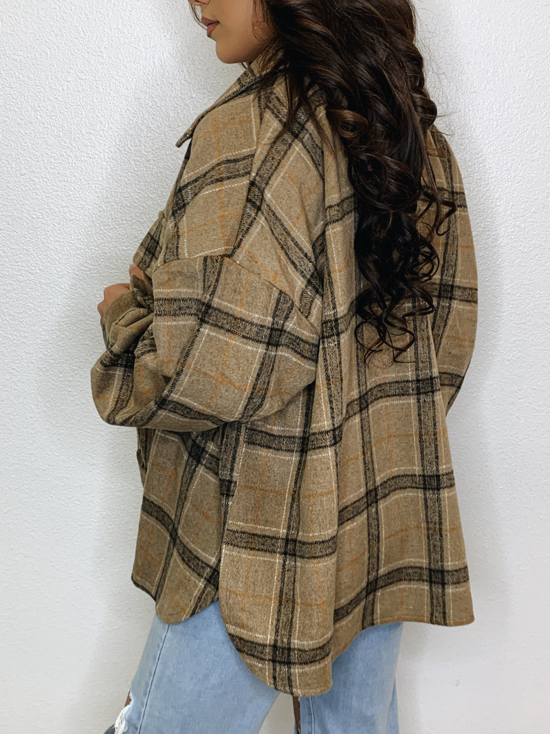 She's Busy Flannel Jacket