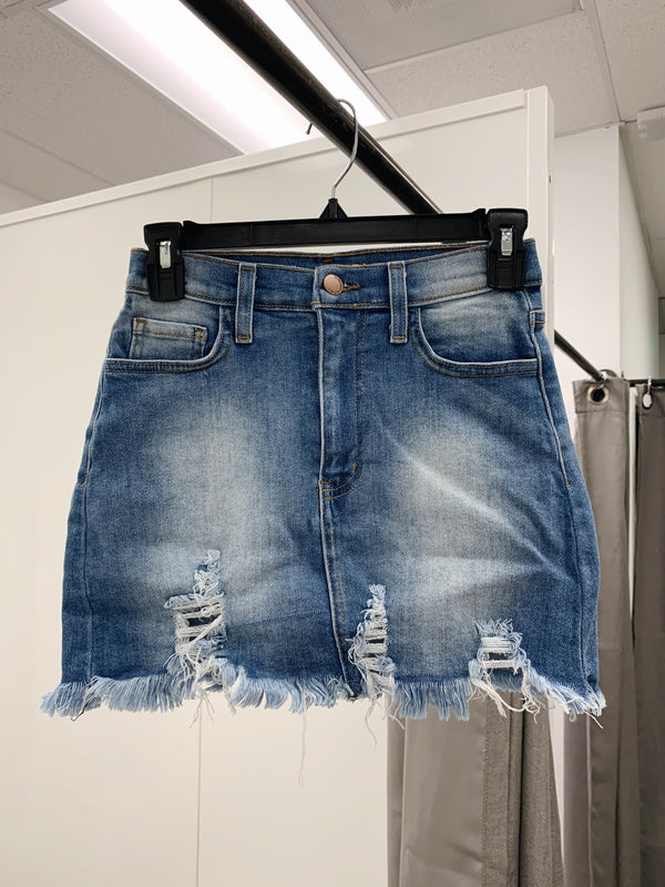 Blue Crush Denim Skirt