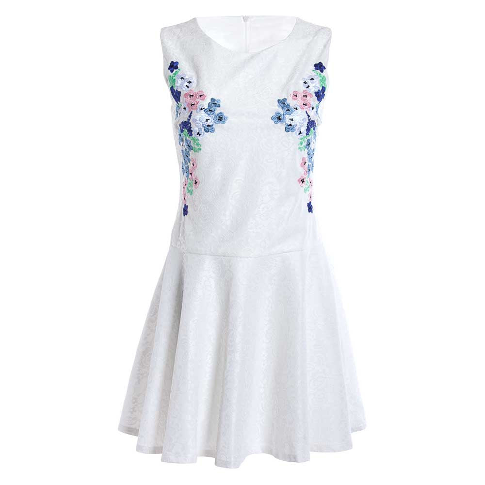 Lacy Floral Mini Dress