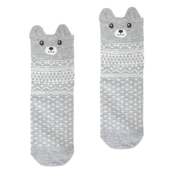 Cute Animal Graphic Crew Socks