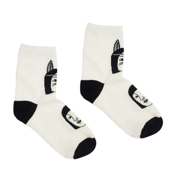 Native Faces Graphic Socks
