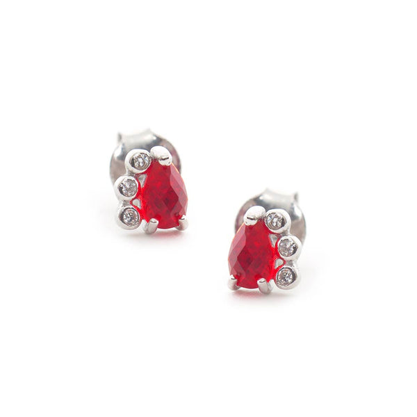 Small Red Stud Earrings