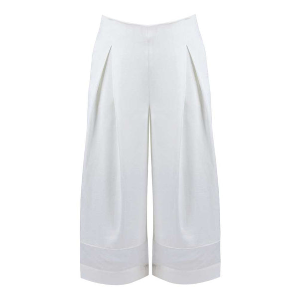 Milky Wide Leg Crop Pants