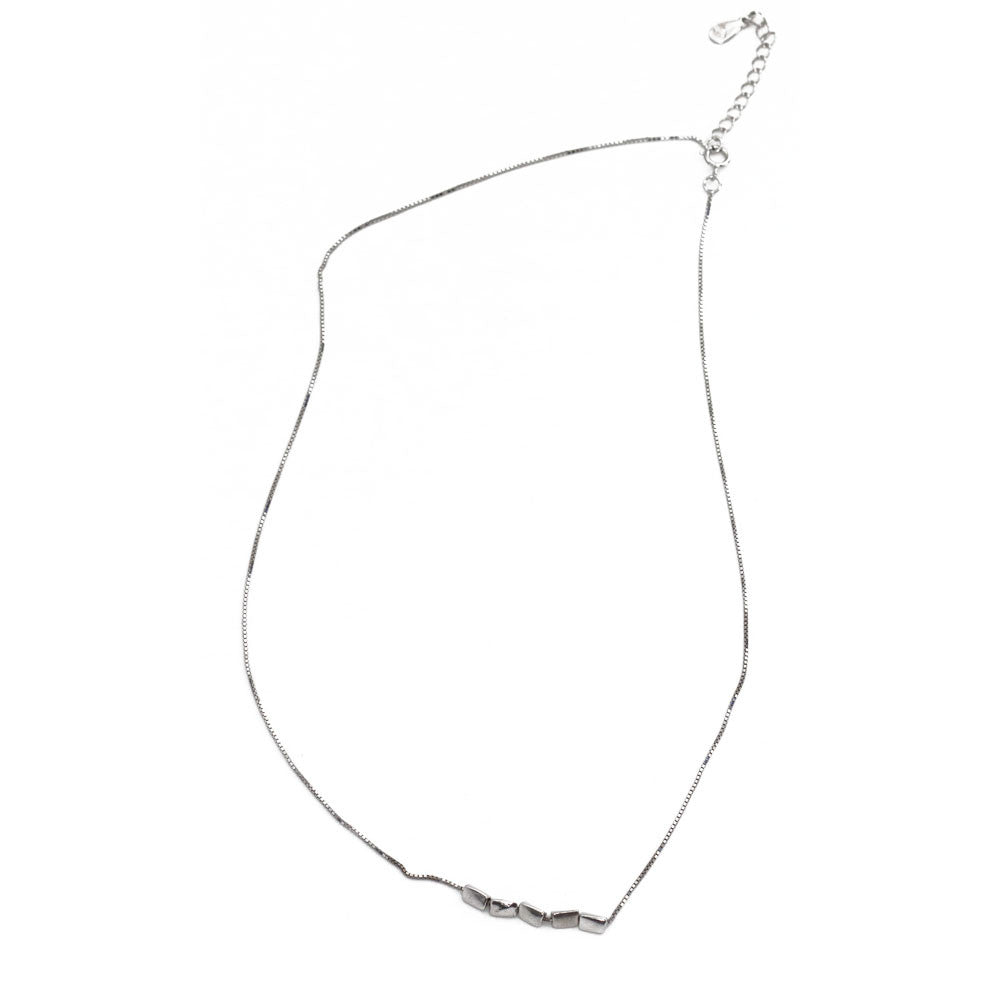 Silver Segment Necklace