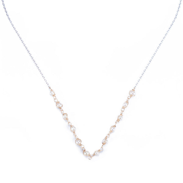 Braided Freshwater Pearl Necklace