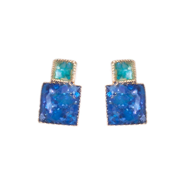 Small Squares Clip On Earrings