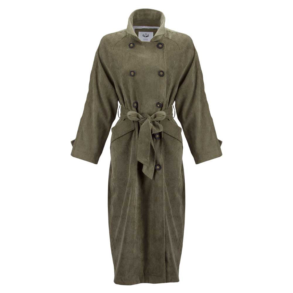 Olive Trench Duster Jacket