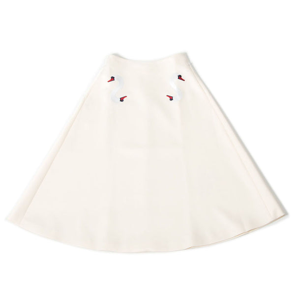 White Midi Double Swan Skirt