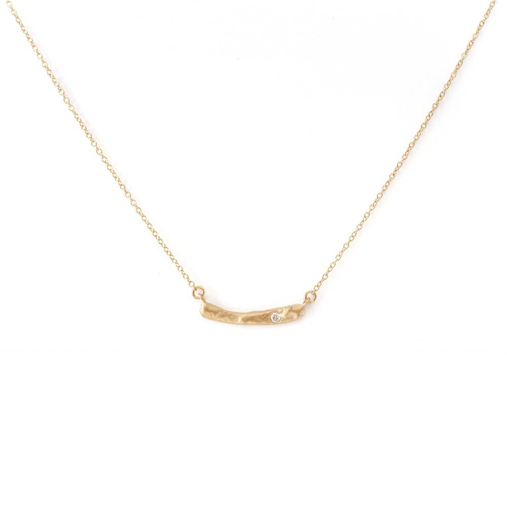 Vanessa Lianne Kate Bar Necklace with Diamond