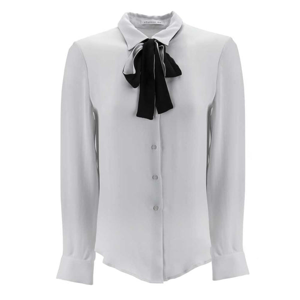 Removable Tie Neck Blouse